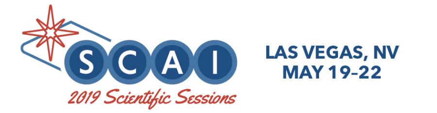 2019 Scientific Sessions: http://www.scai.org/SCAI2019
